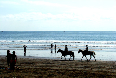 Horseback riding at Jaco Beach